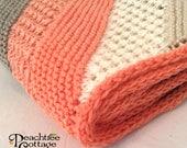 Knit Baby Blanket Pattern - Hampton Baby Afghan Pattern - Babyghan Afghan - Knit Blanket Pattern - PDF Format