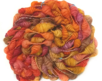 Handspun Art Yarn handdyed Merino wool coils
