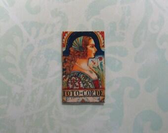 Dollhouse Miniature Renaissance Lady Tile Panel