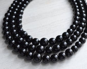 Rae - Black Pearl Statement Necklace
