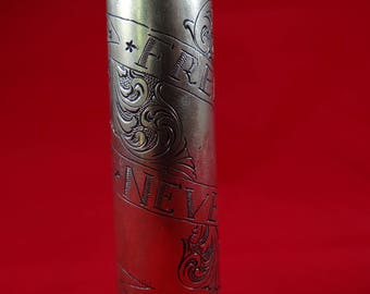 Hand Engraved 50 Caliber shell - Freedom Is Never Free
