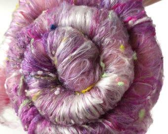 Smoothish Art Batt Set- 'J30-08'- 4 oz Spinning, Felting, Weaving, Papermaking Fiber