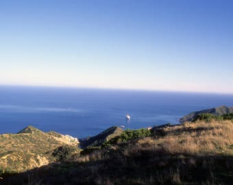 Ocean View From the Top of Catalina Island