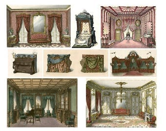 Palace Decor No. 2 - Digital Collage Sheet - Instant Download