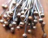 24 gauge Antiqued Brass Ball Tipped Head Pins - 2.5 inches - 20 pieces