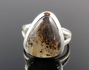 Montana agate sterling silver ring - size 6.5