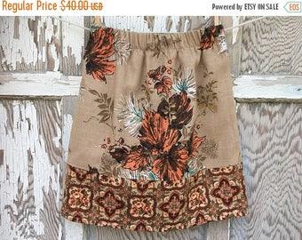 40% OFF- Flea Market Skirt- Eco Friendly Reclaimed Fabrics-Womens-Xs- Boho Style