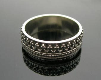 ON SALE TODAY Crown Ring, Mens Sterling Silver Ring