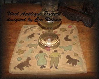 Family Menagerie Rug, printed pattern