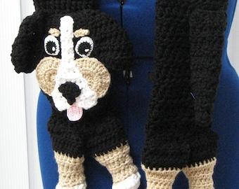 Bernese Mountain Dog Scarf - Bernese Dog - Men's Scarf - Women's Scarves - Dog Theme Gifts - Animal Scarf - Dog Scarf - Free Shipping