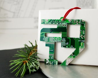 Christmas 2017 Ornament, Circuit Board Ornament, Computer Programmer, Software Engineer, Computer Science Gift, Christmas Ornament, Techie