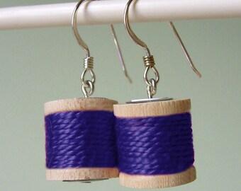 Earrings - Spools of Thread in Purple