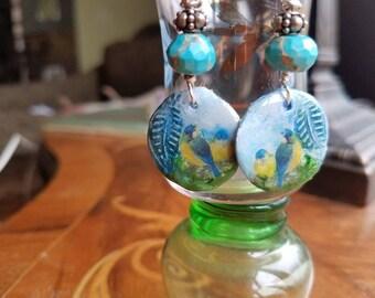 Bluebirds Blue Skies Jasper Earrings