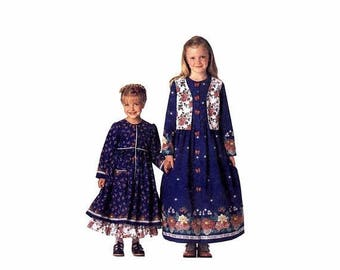 SALE Girls Vest Dress Petticoat Jelly Bean Junction McCalls 9111 Vintage Sewing Pattern Size 4 - 5 - 6 UNCUT