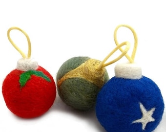 KIT SALE Needle Felted catnip toy, DIY, Christmas tree ornament Tutorial, Pattern, Instructions with pictures, felting tutorial