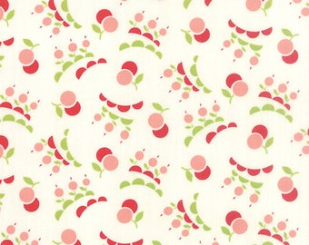 """32"""" piece/remnant - Vintage Picnic - Smitten in Cream: sku 55127-17 cotton quilting fabric by Bonnie and Camille for Moda Fabrics"""