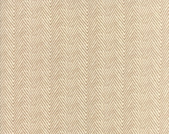 Hazel and Plum - Herringbone in Harvest Tan: sku 20295-13 cotton quilting fabric by Fig Tree and Co. for Moda Fabrics
