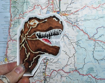 T-Rex Dinosaur Sticker- Vinyl Decal laptop iphone stickers decal stickers cool decal skateboard stickers