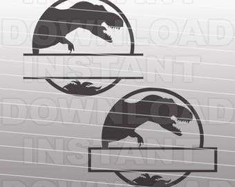 Jurassic World Inspired Dinosaur SVG File Cutting Template-Silhouettes Vector Clip Art for Commercial and Personal Use-Cricut,SCAL,Cameo