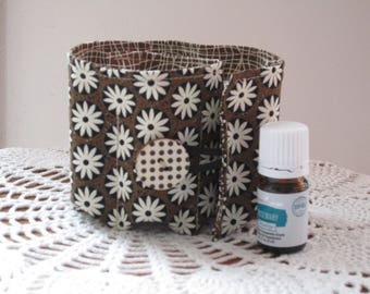 Essential Oil Bag Insert, Young Living  Essential oil roll, Travel bag, Essential oil holder, essential oil storage 8 Pockets (5 ml bottles)