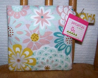 Reusable Little Snack Bag - pouch adults kids floral eco friendly by PETUNIAS