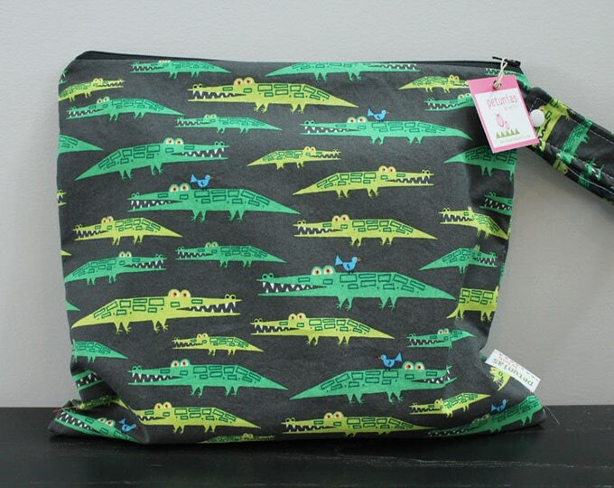 Wet Bag wetbag Diaper Bag ICKY Bag wet proof pink aligator gym bag swim cloth diaper accessories zipper gift newborn baby kids beach bag