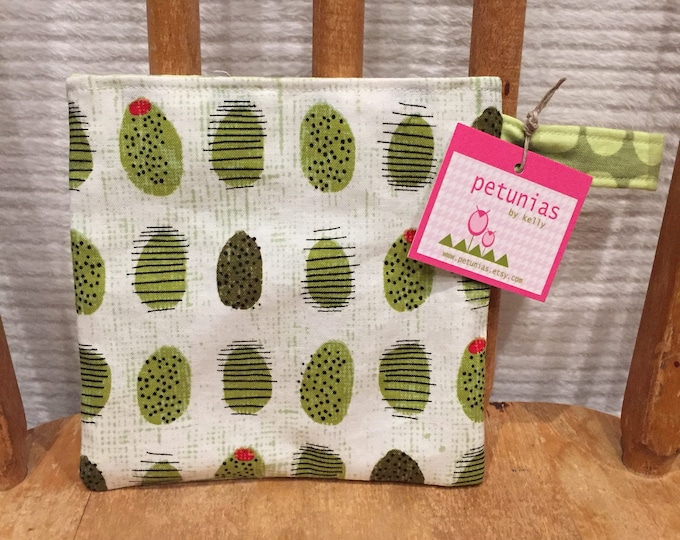 Reusable Little Snack Bag - pouch adults kids girls eco friendly by PETUNIAS