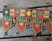 Kashmiri door torans, wedding torans, bellydance supplies, hand made trims, beaded holiday trims