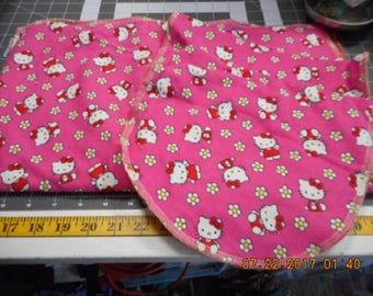 MadieBs Pink Hello Kitty Burp Pad and Changing Pad Set