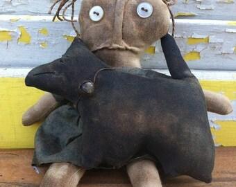 CustomerAppreciationSale Primitive Doll Wee Dog Lover
