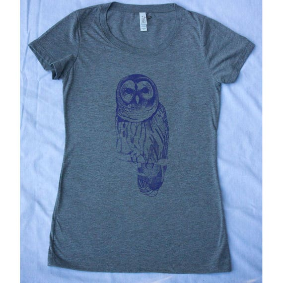 Women's Owl Screen Printed Tee Shirt