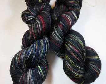Hand Dyed Ultra Merino Superwash Sock/Fingering -- Got Crows? (Game of Thrones) -- This Exact Batch