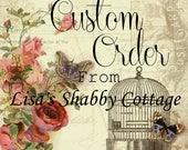 Custom Order: One Painted Pint Sized Glass Mason Jar