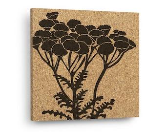 MODERN FLOWERS Mix & Match Floral Cork Decor Art Tiles Or Kitchen Trivet - Wall DéCork