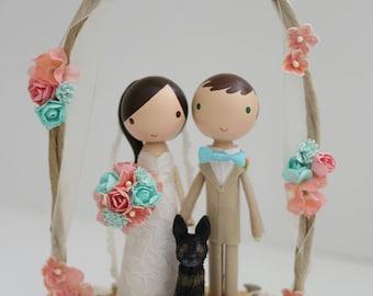 custom wedding cake topper - order for -ITSKATIEA
