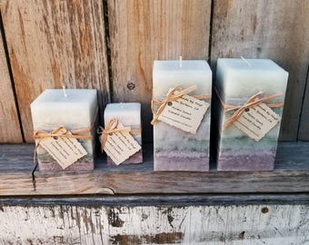 Molten Spark Scented Square Pillar Candles
