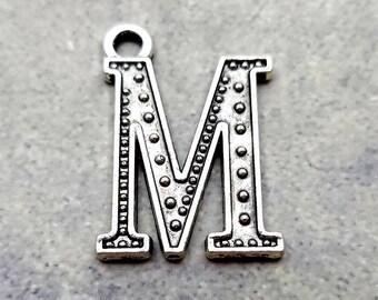 10 Initial M Charms monogram M charm (H8174)