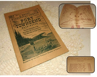 Vintage Paperback Book Booklet, A Brief Historical Sketch of Port Townsend Washington, 1965, Key City of Puget Sound by Chamber of Commerce