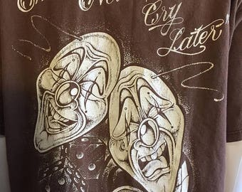 SALE 25% off SALE Smile Now Cry Later Eight Ball Dice t shirt brown