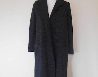 Closing Shop 40%off SALE Vintage Beautiful 70s Stanley Sherman long  jacket  coat   black   womens women clothing clothes