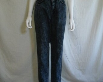 Closing Shop 40%off SALE 80s 90s Levis 900 Series High Waisted Dark Acid Wash Denim Jeans, Tapered Leg, Silver Tab