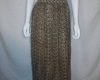 Closing Shop 40%off SALE Animal print cheetah leopard skirt, size 3X plus size rayon skirt