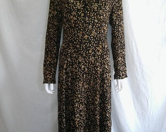40% off SALE 90s long sleeve floral dress