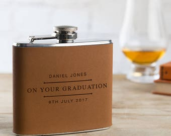 Graduation Hip Flask With Personalisation