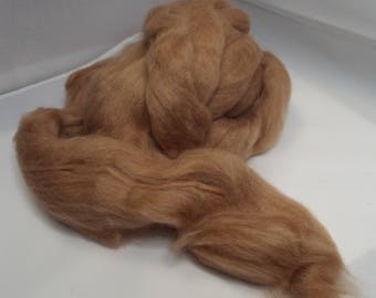 Baby Camel Top, 2 ounces, Bactrian camel, camel, spinning fiber, roving, top, silk blend, Threadsthrutime