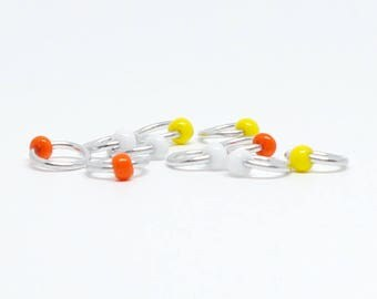 Candy Corn (US8) - Eterne Stitch Markers (snagfree)