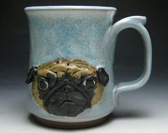 Pug Mug -Blue