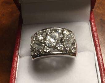 Sterling Silver Diamonique Ring. Sz6