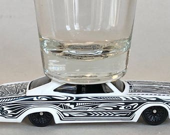 The ORIGINAL Hot Shot, Shot Glass, '65 Chevy Impala, Tribal Tattoo, Hot Wheel
