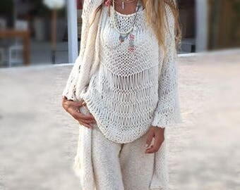 Ivory kimono sweater